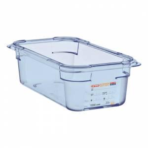 Boîte hermétique bleue en ABS sans BPA Araven GN1/2 65mm