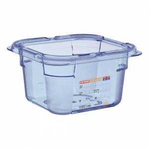 Boîte hermétique bleue en ABS sans BPA Araven GN1/4 150mm