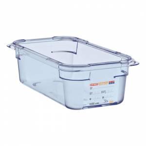 Boîte hermétique bleue en ABS sans BPA Araven GN1/6 150mm