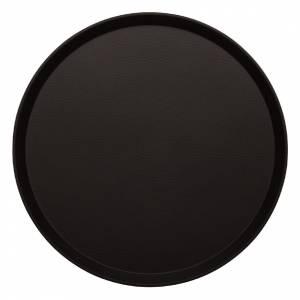 Plateau antidérapant en fibre de verre Kristallon rond noir 406mm