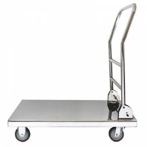Chariot à servir en acier inox - 3 niveaux