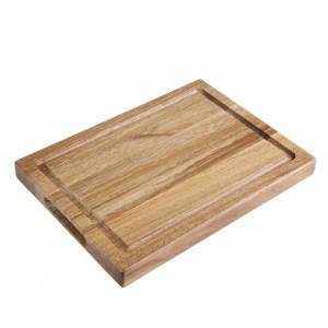 Petite planche carrée en chêne Olympia 230x230x15mm manche 100mm